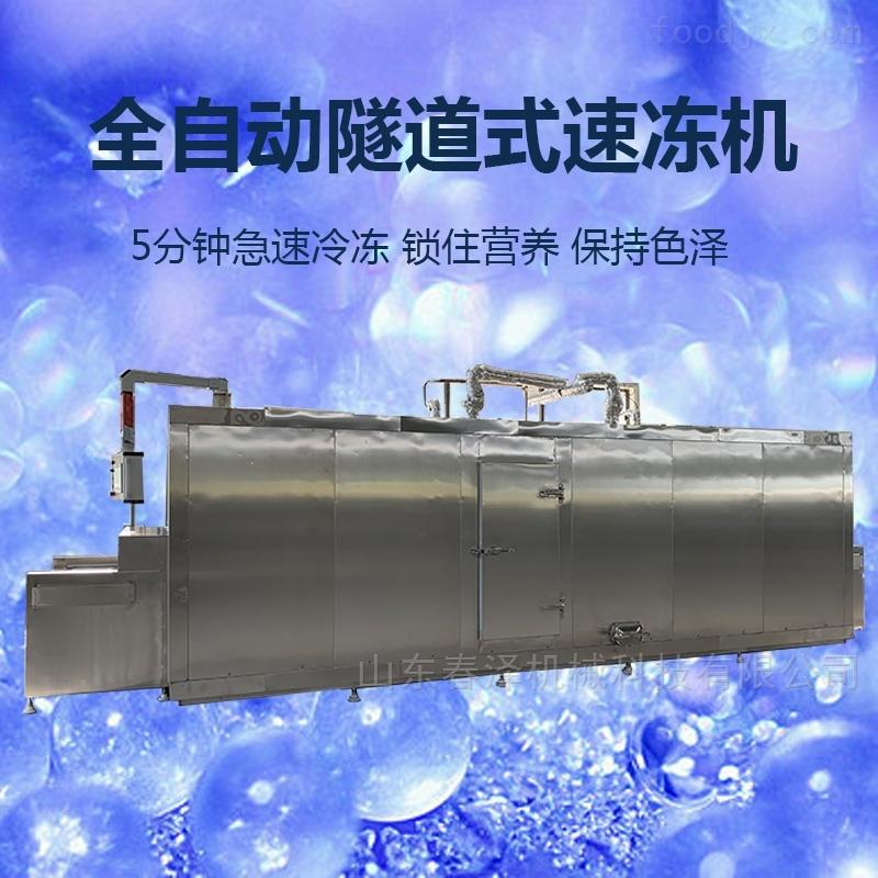 包子饺子油条生胚速冻机  隧道式速冻厂家