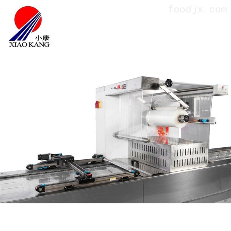 休闲零食类全自动拉伸膜真空包装机