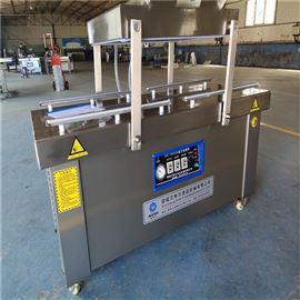 平台式台烤腊肠600双室真空包装机