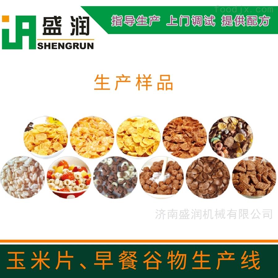 济南盛润   冲泡玉米片早餐谷物设备生产线