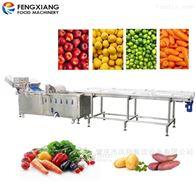 WA-1000净菜加工设备果蔬清洗机六工位挑选输送机