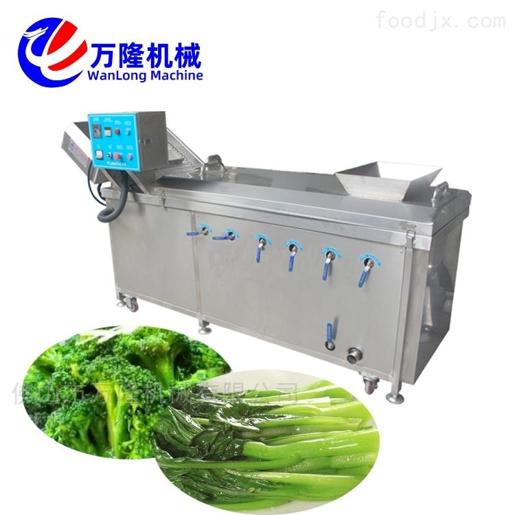 食品自动芫荽青豆金针菇预煮机加工流水线