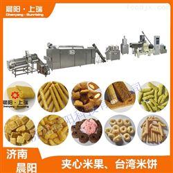 CY65双螺杆夹心米果生产线设备 膨化米果设备制造机器