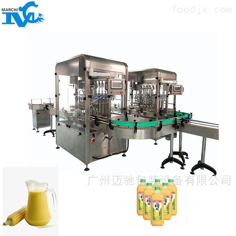 瓶装玉米汁液体自动灌装机械